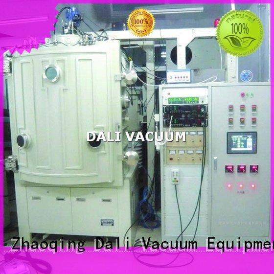 evaporation chamber double double Dali vacuum line